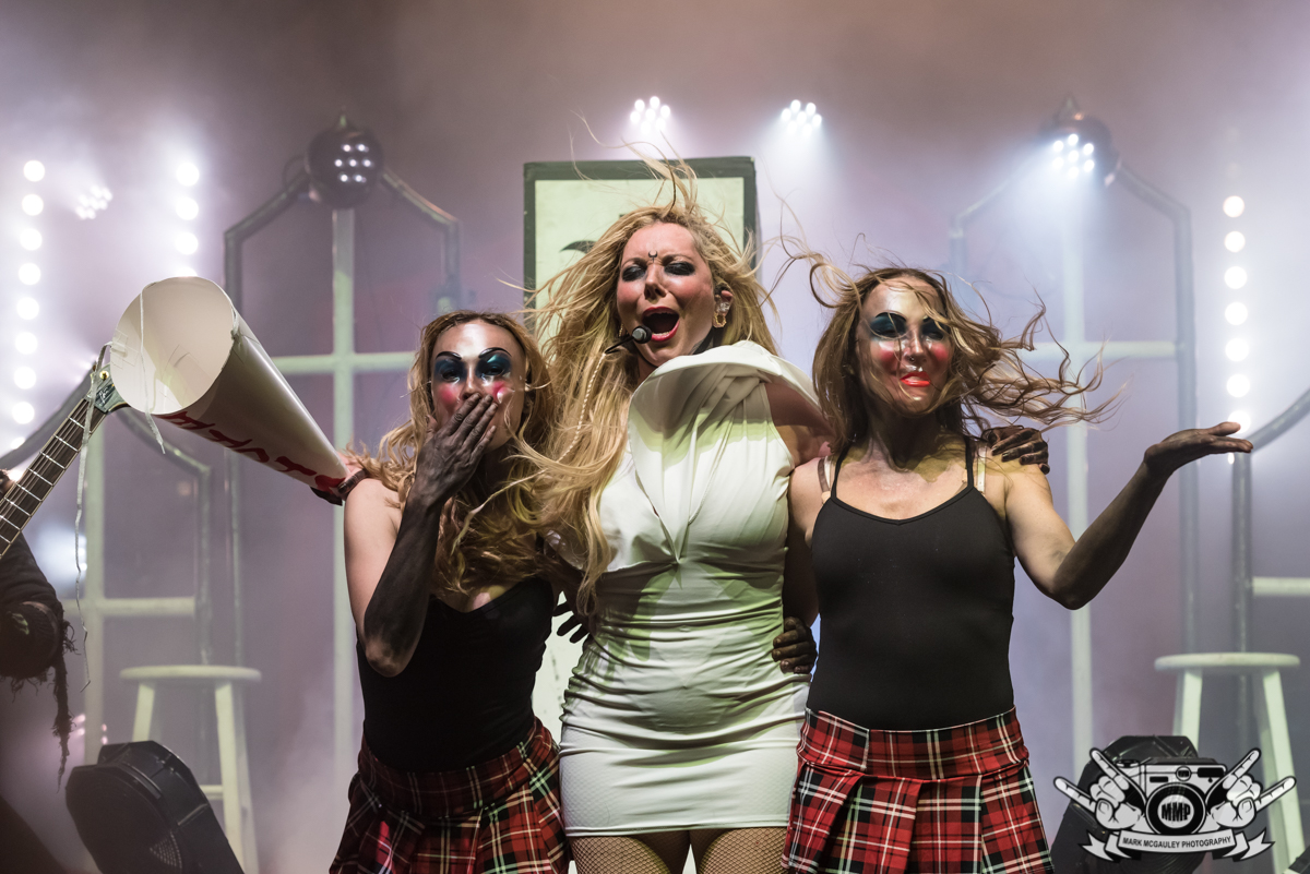 Maria Brink With Her Blood Girls